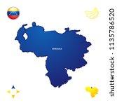 simple outline map of venezuela | Shutterstock .eps vector #1135786520