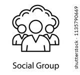 a group of people and cloud... | Shutterstock .eps vector #1135790669