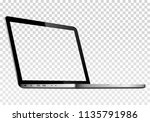 perspective view of laptop with ... | Shutterstock .eps vector #1135791986