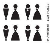 men and women restroom signage... | Shutterstock .eps vector #1135792613
