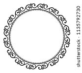 decorative frame elegant vector ... | Shutterstock .eps vector #1135792730