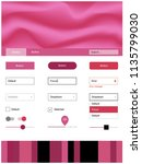 light pink vector style guide...