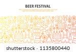 beer festival concept. vector...   Shutterstock .eps vector #1135800440
