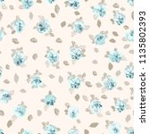 seamless ditsy pattern in small ... | Shutterstock . vector #1135802393
