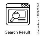 magnifier browsing through a... | Shutterstock .eps vector #1135802840