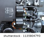 wiring diagram  ignition coils... | Shutterstock . vector #1135804793