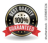 100 percent best quality badge... | Shutterstock .eps vector #1135805126