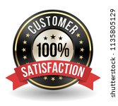 100 percent customer... | Shutterstock .eps vector #1135805129