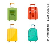 set of four wheeled travel bags ... | Shutterstock .eps vector #1135805786