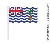 flag of british indian ocean... | Shutterstock .eps vector #1135806194