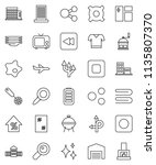 thin line vector icon set  ... | Shutterstock .eps vector #1135807370