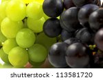 white and red grape | Shutterstock . vector #113581720