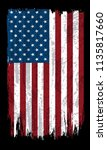 grunge flag of usa.vector... | Shutterstock .eps vector #1135817660