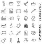 thin line vector icon set  ... | Shutterstock .eps vector #1135818410