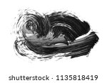 brush stroke and texture. smear ... | Shutterstock . vector #1135818419