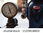 pressure gauge in air... | Shutterstock . vector #1135818803