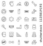 thin line vector icon set  ... | Shutterstock .eps vector #1135819193