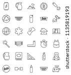 thin line vector icon set  ... | Shutterstock .eps vector #1135819193