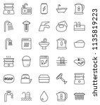 thin line vector icon set  ... | Shutterstock .eps vector #1135819223