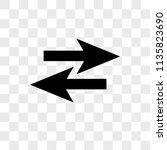 two opposite arrows vector icon ...   Shutterstock .eps vector #1135823690