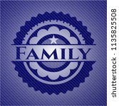 family emblem with denim texture | Shutterstock .eps vector #1135825508