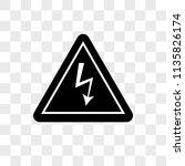 danger vector icon on... | Shutterstock .eps vector #1135826174