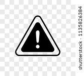 danger vector icon on... | Shutterstock .eps vector #1135826384
