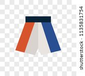 boxing shorts vector icon on... | Shutterstock .eps vector #1135831754