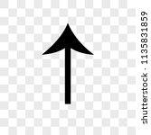 up arrow vector icon on...