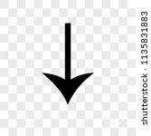 down arrow vector icon on...