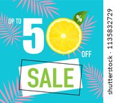 sale poster with  lemon with... | Shutterstock .eps vector #1135832729