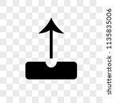upload vector icon on... | Shutterstock .eps vector #1135835006