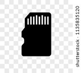 memory card vector icon on... | Shutterstock .eps vector #1135835120