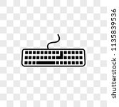 keyboard vector icon on... | Shutterstock .eps vector #1135839536
