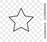star vector icon on transparent ...