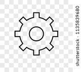 settings vector icon on... | Shutterstock .eps vector #1135839680