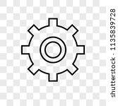 settings vector icon on... | Shutterstock .eps vector #1135839728
