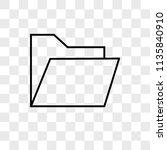 folder vector icon on... | Shutterstock .eps vector #1135840910