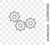 settings vector icon on... | Shutterstock .eps vector #1135841000