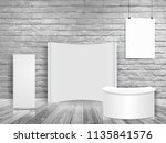 vector blank exhibition trade... | Shutterstock .eps vector #1135841576