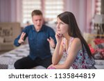 family relations  problems ... | Shutterstock . vector #1135844819