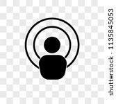 antenna vector icon on... | Shutterstock .eps vector #1135845053