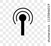 antenna with vector icon on... | Shutterstock .eps vector #1135846019