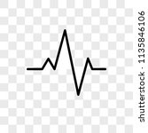 pulse line vector icon on... | Shutterstock .eps vector #1135846106