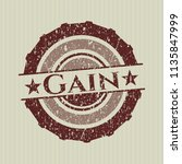red gain distressed grunge stamp   Shutterstock .eps vector #1135847999
