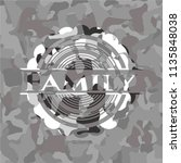 family on grey camo pattern | Shutterstock .eps vector #1135848038