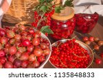 summer beautiful food... | Shutterstock . vector #1135848833