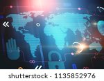 blured abstract digital... | Shutterstock . vector #1135852976