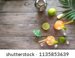 zombie cocktail with rum ... | Shutterstock . vector #1135853639
