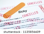 sick day  document saying sick... | Shutterstock . vector #1135856609